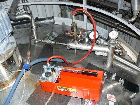 Epreuve hydraulique sur site
